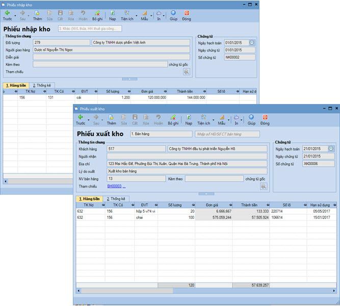 quản lý kho phần mềm kế toán misa sme