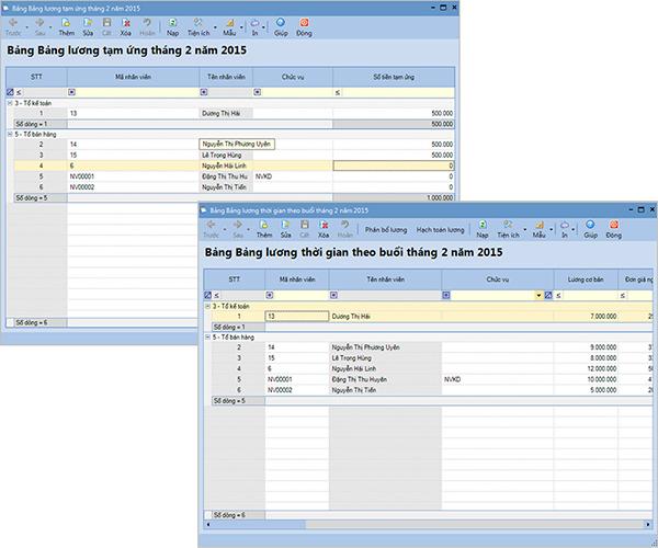 Cho phép lập bảng lương tạm ứng và bảng lương chính trong cùng tháng