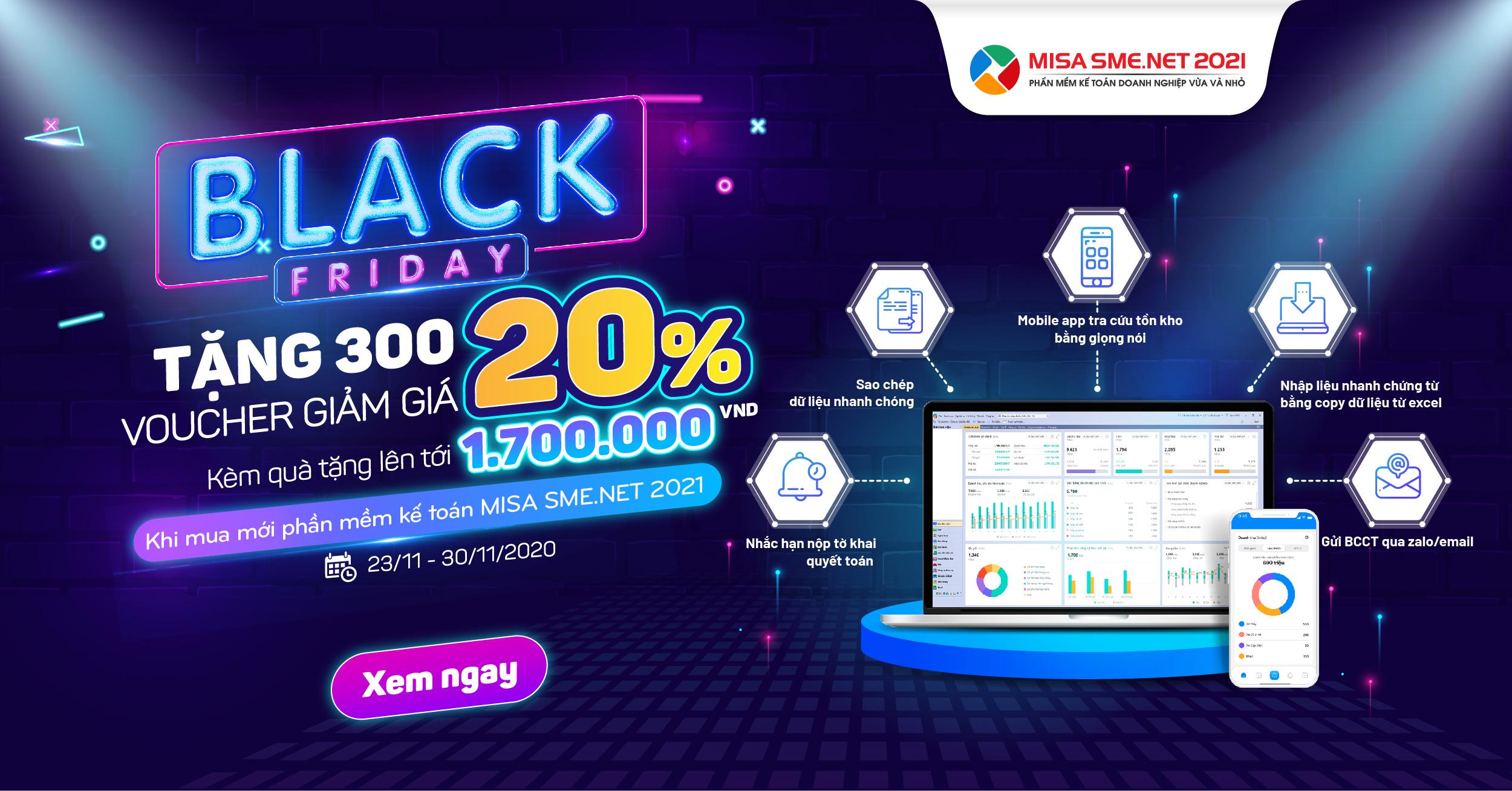 blackfriday phần mềm kế toán misa