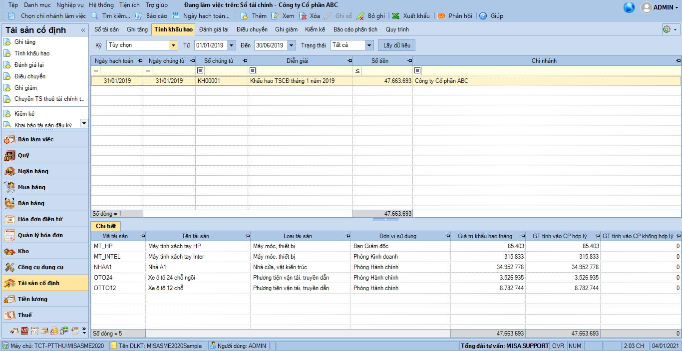phần mềm quản lý tài sản cố định 2