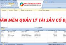 phần mềm quản lý tài sản cố định