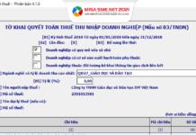mẫu tờ khai 03 TNDN